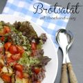 Brotsalat mit Brombeerdressing
