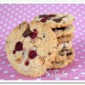 Double Chocolate Cookies mit Himbeeren