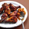 Chicken Wings mit Mandel-Safran-Dip